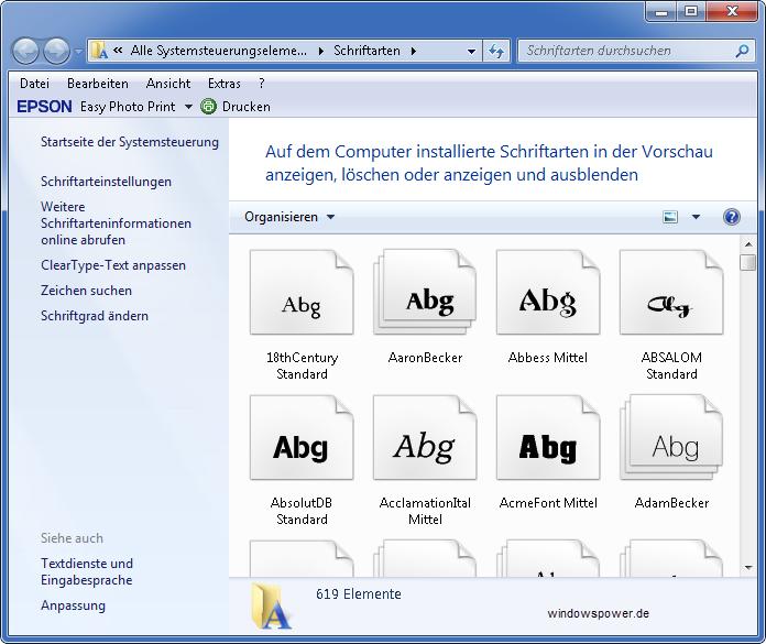 Welche schriftarten fonts sind installiert schriftarten anzeigen