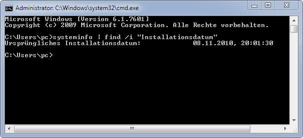 Kurztipp: wann haben Sie Windows 7 installiert?