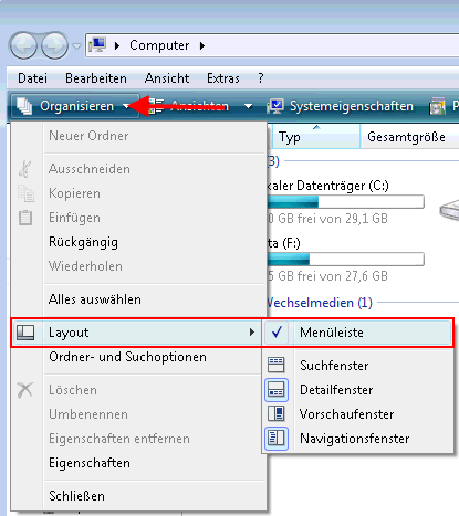Papierkorb wiederherstellen bei Windows Vista