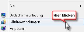 Minianwendungen Sidebar anzeigen unter Windows 7