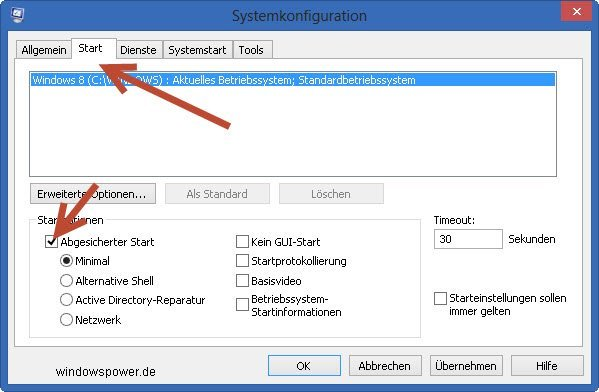 {focus_keyword} Windows 8 im abgesicherten Modus starten abgesicherten modus