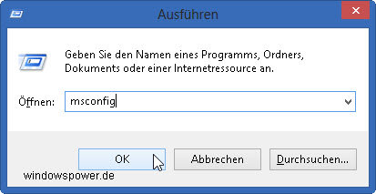 Windows 8 im abgesicherten Modus starten msconfig