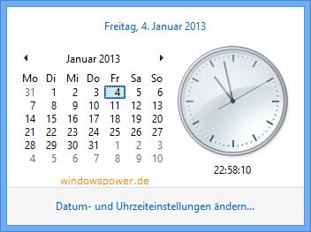 uhrzeiteinstellung  Windows 8 Zeitzone - Uhrzeit und Datum ändern uhrzeiteinstellung