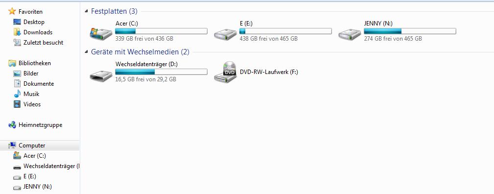Windows 7/8.1 verschwundene Laufwerke wiederherstellen