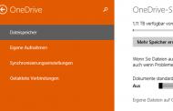 Automatisches Speichern auf OneDrive deaktivieren bei Windows 8.1