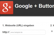 Google Plus eins Button einbauen – Google Plus+1