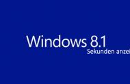 Windows 8.1 Sekunden in der Taskleiste anzeigen