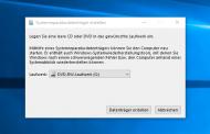Windows 10 Recovery CD erstellen