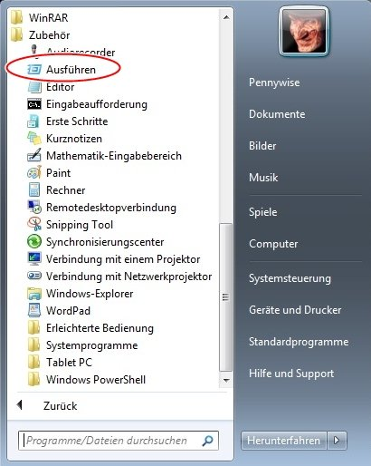 start.jpg {focus_keyword} Windows 7 schneller Starten start