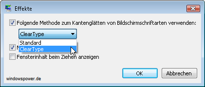 ClearType unter Windows Vista anwenden 3