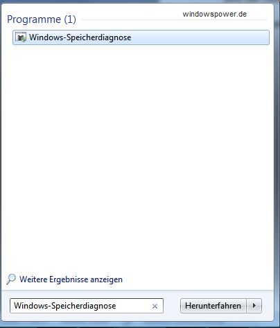 Windows-Speicherdiagnose.png Windows-Speicherdiagnose