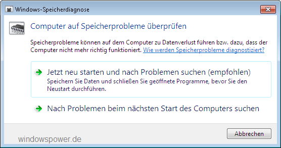 windows-speicherdiagnose-computer