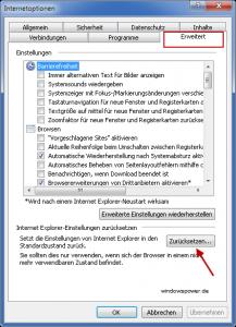 internetoptionen Probleme mit PDF-Dateien im Internet Explorer