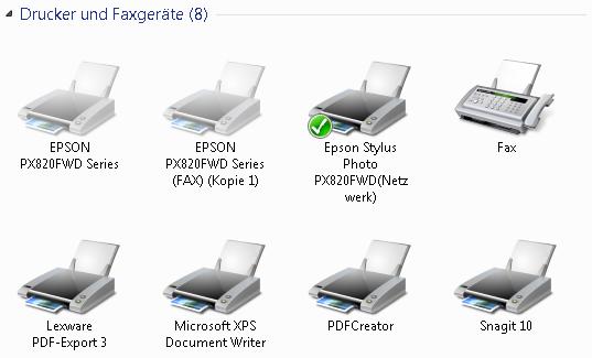 drucker mehrfach vorhanden - Windows 7: Drucker mehrfach vorhanden