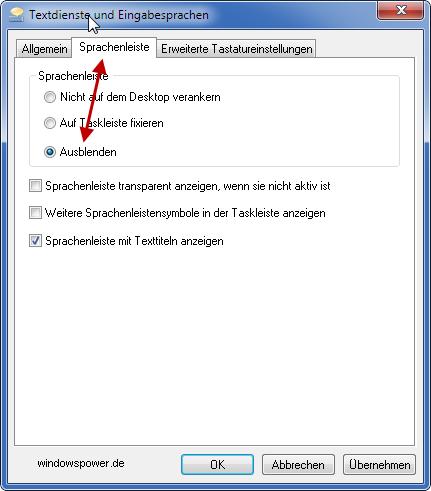 sprachenleiste ausblenden - Windows 7: Sprachauswahl aus der Taskleiste entfernen