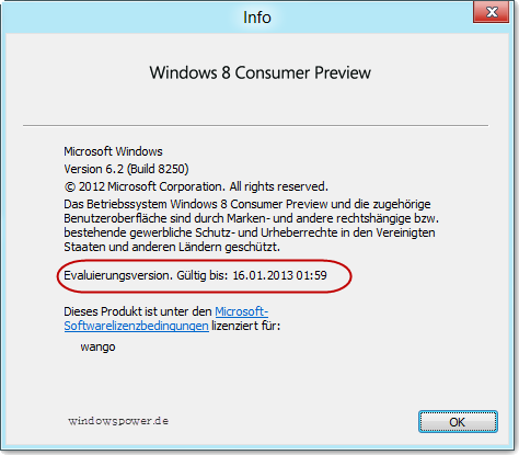 testlaufzeit-windows-8 testlaufzeit-windows-8