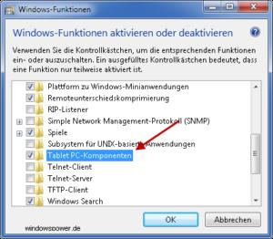 windows-funktionen-tablet-pc-komponenten Windows 7: Snipping Tool fehlt