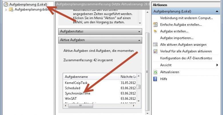 aufgabenplanung lokal 780x405 - Uhr bei jedem Systemstart synchronisieren unter Windows 7