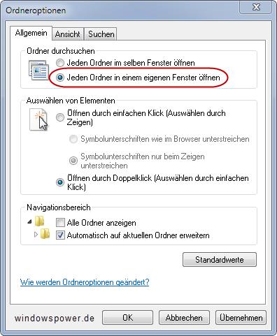 ordner neu fenster oeffnen - Kurztipp: Ordner in neuem Fenster öffnen unter Windows 7