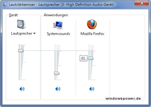 programme leise - Bestimmte Programme zu leise oder geben keinen Ton unter Windows 7