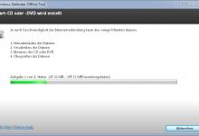 start cd dvd wird erstellt 220x150 - Mit Windows Defender Offline Rettungs-CD/DVD Viren, Schadsoftware, Rootkits entfernen