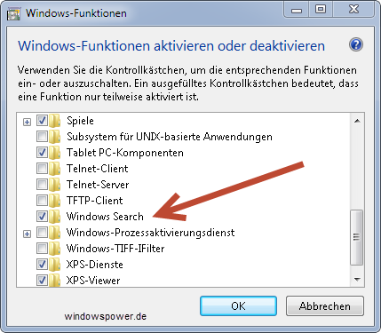 windows search - Windows 7: Programme/Dateien Suchen verschwunden