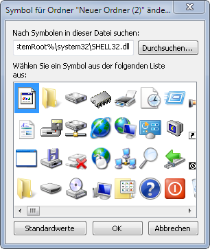 andere grafik icon ordner - Symbol für einen Ordner ändern unter Windows 7