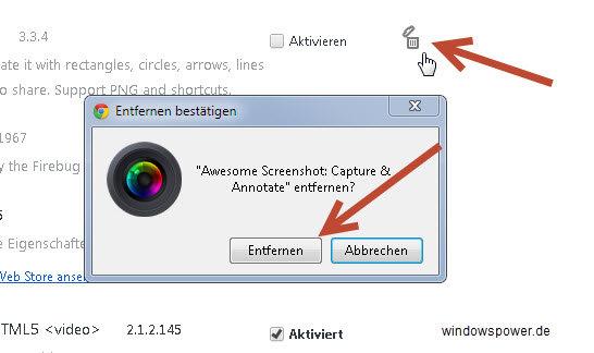 entfernen plugin - Erweiterungen - Plugins löschen von Google Chrome