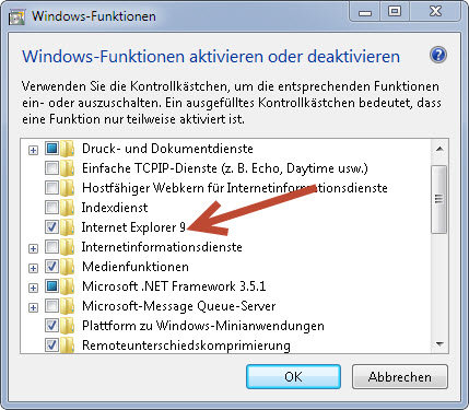 internet explorer - So deinstallieren Sie Internet Explorer 9