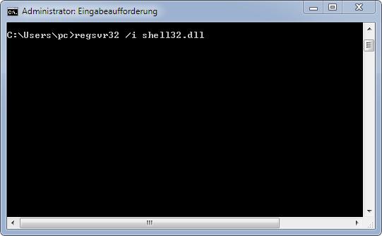 regsr32-i-shell32-dll