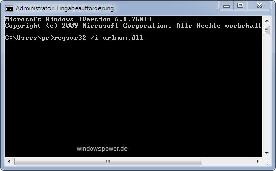 regsvr32 i urlmon dll - Internet Explorer reparieren