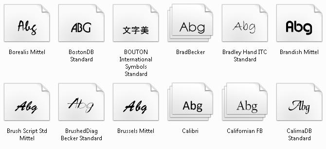 schriftart - Defekte Schriftart unter Windows 7