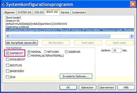 1 - Wie starte ich Windows im abgesicherten Modus?