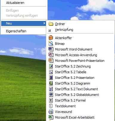 Unbrauchbare Dateitypen aus