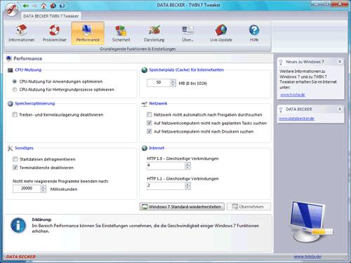 1213 - Kostenloses Tweaking-Tool für Windows 7 von Data Becker