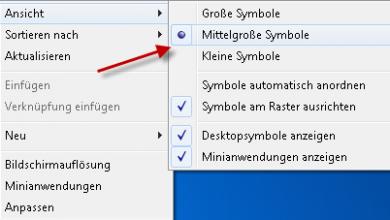 ansicht symbole desktop 390x220 - Größe von Desktop-Symbole ändern unter Windows 7