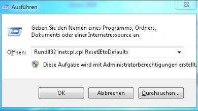 ausfueren 390x220 - Internet Explorer Einstellungen Zurücksetzen
