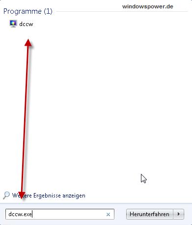 dccw exe - Monitor optimal kalibrieren unter Windows 7 mit Bildschirm-Farbkalibrierung