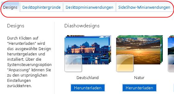 designs diashowdesigns - Designs Diashowdesigns Desktophintergründe SideShow-Anwendungen für Windows 7