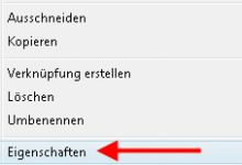 eigenschaften2 220x150 - Komprimierung von Dateien und Verzeichnissen bei Windows Vista