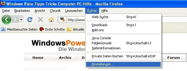 firefox update1 - Firefox Updates Deaktivieren