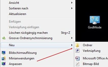 god 1 - Versteckte Optionen freischalten unter Windows 7