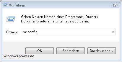 msconfig - Benutzerkontosteuerung deaktivieren bei Windows Vista