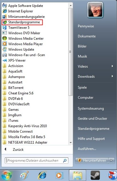 programme - Standardprogramm festlegen für Autostart Windows 7