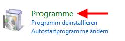 programme - Nicht benötigte Komponenten unter Windows Vista entfernen