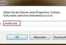 recovery 220x150 - Recovery CD erstellen für Windows 7