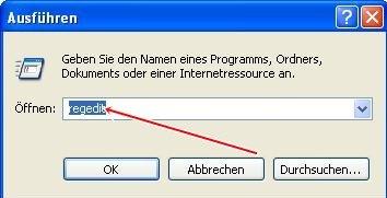 regedit - Internet Explorer 8 schneller machen