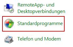 Bild von Windows 7 Standardprogramme festlegen