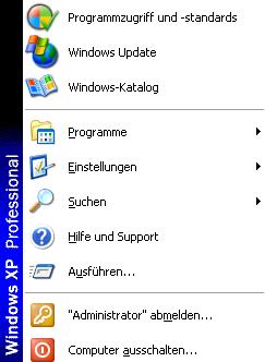 start - Windows XP ohne Maus herunterfahren