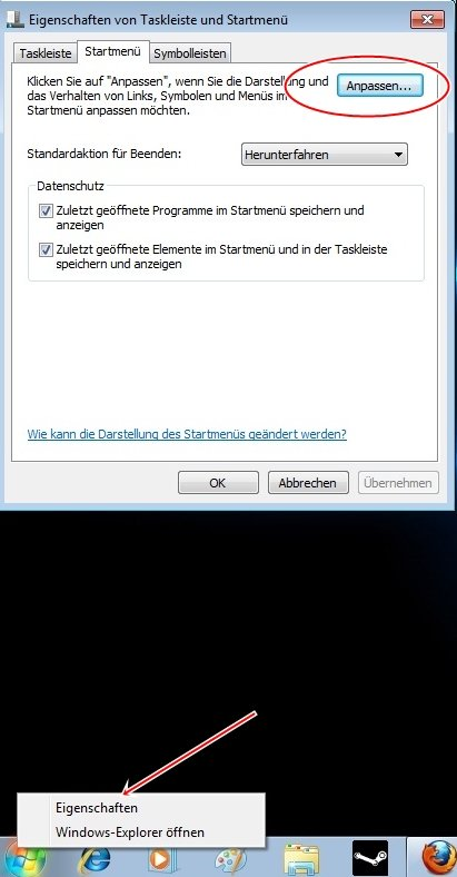 startmen 2 - Windows 7 Startmenü anpassen
